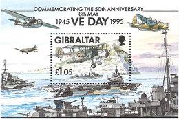 Gibraltar 1995 50th Anniversary Of The End Of World War II. Mi Bloc 21 MNH(**) - Gibraltar