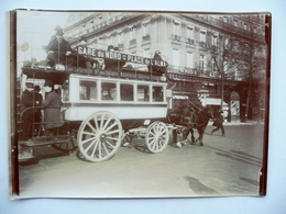Fotografia Originale Tram A Cavalli Parigi Place De La Republique 1904 Animata - Foto