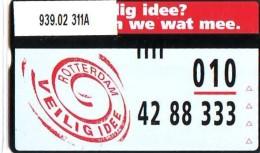 Telefoonkaart  LANDIS&GYR NEDERLAND *  RCZ.939.02   311a * VEILIG IDEE? ROTTERDAM  * TK * ONGEBRUIKT * MINT - Nederland