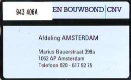 Telefoonkaart  LANDIS&GYR NEDERLAND *  RCZ.943   406a * CNV Hout-en Bouwbond  * TK * ONGEBRUIKT * MINT - Nederland
