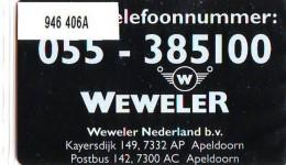 Telefoonkaart  LANDIS&GYR NEDERLAND *  RCZ.946   406a * Weweler Nederland B.v.  * TK * ONGEBRUIKT * MINT - Nederland