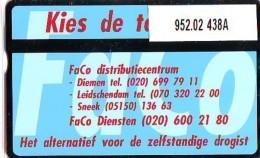 Telefoonkaart  LANDIS&GYR NEDERLAND *  RCZ.952.02   438a * Faco Diensten  * TK * ONGEBRUIKT * MINT - Nederland