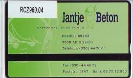 Telefoonkaart  LANDIS&GYR NEDERLAND *  RCZ.960.04  402G * Jantje Beton, Nationaal Jeugd Fonds  * TK * ONGEBRUIKT * M - Nederland