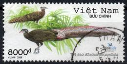 VIETNAM 2006 Used Crested Argus - Rheinardia Ocellata - Birds Pheasant Pheasants Vögel Aves - Peacocks