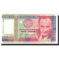 Billet, Pérou, 50,000 Intis, 1988, 1987-06-26, KM:142, SPL+ - Pérou