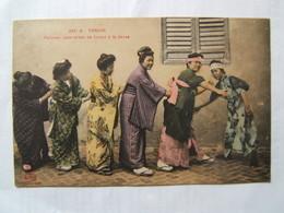 ASIE/VIET NAM/TONKIN: Femmes Japonaises Se Livrant à La Danse              CPA - Viêt-Nam