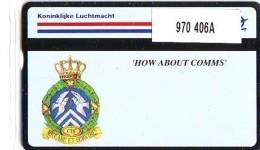 "Telefoonkaart  LANDIS&GYR NEDERLAND *  RCZ.970  406a * Koninklijke Luchtmacht ""How About Comms  * TK * ONGEBRUIKT *  - Nederland"