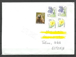 IRLAND IRELAND 2018 Letter To EstoniaFlowers Etc Stamps Remained Uncancelled! - Covers & Documents