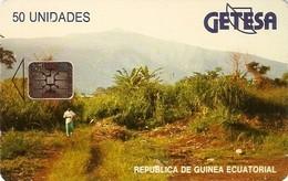 *GUINEA EQUATORIALE* - Scheda A CHIP Usata - Guinée-Equatoriale