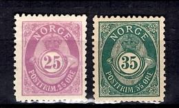 Norvège YT N° 53B Et N° 55B Neufs *. B/TB. A Saisir! - Norwegen
