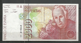 ESPAÑA BILLETE DE 2000 Pts. Año 1992 En Muy Buen Esta De Conservación Cuasi Plancha. - [ 4] 1975-… : Juan Carlos I