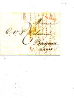 N 4 - LETTRE MARCOPHILE   ISIGNY A BAYEUX - Marcophilie (Lettres)