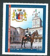 Italia, Italy, Italien 2018; Stemma Araldico Dell' Arma Dei Corazzieri, Guardia D' Onore Del Presidente Della Repubblica - Briefmarken