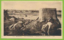 BRIGNAN - Vue Générale - Tourelle Castel-Houel Carte Circulé 1938 - Brignogan-Plage