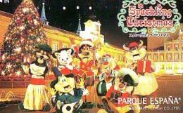 Télécarte Japon / 110-016 - PARC D'ATTRACTION - Parque España Spain (6357)  NOEL - SPARKLING CHRISTMAS Japan Phon - Disney