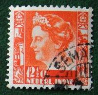 12 1/2 Ct Koningin Wilhelmina NVPH 196 1934 Gestempeld / Used NEDERLAND INDIE / DUTCH INDIES - Indes Néerlandaises