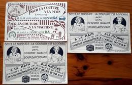 3 Buvards Anciens FIL AU CONSCRIT & L'ASTRE D'OR -Ets D.AEé à LILLE -imprimerie LEFEBVRE DUCROCQ à Lille Machine à Coudr - Textilos & Vestidos