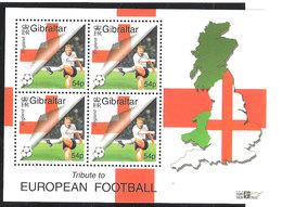 Gibraltar 2000  European Football Championship,A Tribute To Football, 54 P  Mi 913 Ms,MNH(**) - Gibraltar