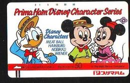 Télécarte Japon DISNEY (6362)  Phonecard Japan * Telefonkarte * FRONTBAR 110-22709 * PRIMA HAM CHARACTER SERIES - Disney