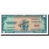Billet, Dominican Republic, 500 Pesos Oro, 1975, 1975, Specimen, KM:114s, NEUF - Dominicana