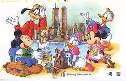 TC Japon DISNEY / 110-179029 A2 - Série Voyage 15/16  NEW YORK WTC PISA Liberté Ecureuil (6363) Moai Chile Manchot Japan - Disney