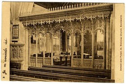 KENILWORTH   SCREEN AND PULPIT  ST NICHOLAS  CHURCH  INTERIEUR DE L EGLISE  VERS 1915 / 18 - Angleterre