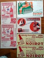 """6 Buvards Anciens - EXTRAITS """"NOIROT"""" Pour Faire Soi-même Sirops, Quinquina - PRIX SURCHARGES Sur 2 Buvards - Liquor & Beer"""