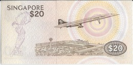 SINGAPOUR / SINGAPORE      20 Dollars  Nd(1979) - Concorde - Neuf(UNC) - Singapore