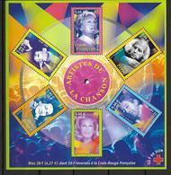 France 2001 Bloc Feuillet N° 37 Neuf Chanteurs La Croix Rouge Au Prix De La Poste - Blocks & Kleinbögen