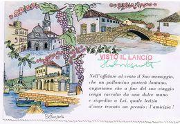 Cartolina Rilasciata Tramite Palloncino In Occasione Di Manifestazione Filatelica Muggia 70 - Trieste