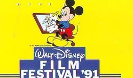 110-011 - DISNEY (6370) MICKEY / FILM FESTIVAL 1991 - Japan Phonecard Telefonkarte - Disney