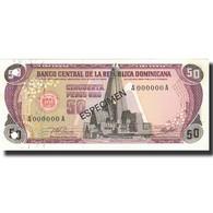 Billet, Dominican Republic, 50 Pesos Oro, 1978, 1978, Specimen, KM:121s1, NEUF - Dominicaine