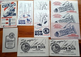 30 Buvards Anciens -8 Modèles Différents - LION NOIR Cirage Pour Chaussures - PARIS -MONTROUGE à Clé + Facile à Ouvrir - Shoes