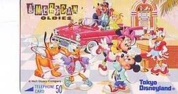 Télécarte Japon / 110-64779 - DISNEY Disneyland (6374) Série American Oldies Donald Daisy Mickey Minnie Japan Phonecard - Disney