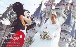 Télécarte Japon / 110-011 - DISNEY * WEDDINGS (6375) MICKEY & YUMI KATSURA  - Japan Phonecard Telefonkarte - Disney