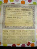 Obligation De 500 Francs 4 % Au Porteur De La Société De La Librairie & Imprimerie Horticoles Du 1er Octobre 1908  Paris - Agriculture