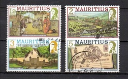 ILE MAURICE N° 462 463 464 465 (YT) 4 VALEURS SERIE COURANTE 1978 - Mauritius (1968-...)