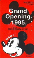 Télécarte  JAPON * 110-171047 * DISNEY STORE (6378) PHONECARD JAPAN * Telefonkarte * GRAND OPENING - Disney