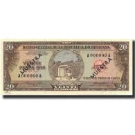 Billet, Dominican Republic, 20 Pesos Oro, Undated (1964-74), Specimen, KM:102s2 - Dominicana