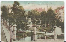 Bruxelles - Brussel - Square Du Petit-Sablon - Statue Des Comtes D'Egmont Et De Hornes - 1921 - Marktpleinen, Pleinen