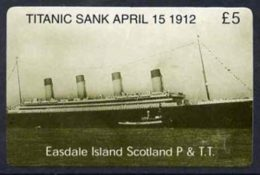 20506 (cinema) Telephone Card - Easdale Titanic #01 5 (collector's) Card (green & White From A Limited Edition Of 12 - Cinema