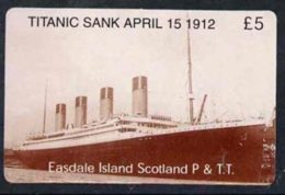 20513 (cinema) Telephone Card - Easdale Titanic #08 5 (collector's) Card (brown & White From A Limited Edition Of 12 - Cinema
