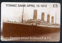 20514 (cinema) Telephone Card - Easdale Titanic #09 5 (collector's) Card (brown & White From A Limited Edition Of 12 - Cinema