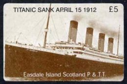 20515 (cinema) Telephone Card - Easdale Titanic #10 5 (collector's) Card (brown & White From A Limited Edition Of 12 - Cinema