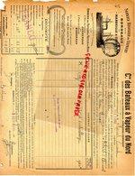 59-DUNKERQUE- BORDEAUX MARSEILLE CETTE-SETE-ARRAS-SERVICE REGULIER CIE DES BATEAUX A VAPEUR DU NORD- - Documents Historiques