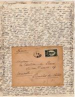 VP12.214 - Lettre De Mme La Comtesse De LEUSSE à MAZAGAN (Maroc ) Pour Mme La Comtesse De PERINI à MARSEILLE - Manuscripts