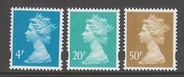 SERIE NEUVE DE GRANDE-BRETAGNE - SERIE COURANTE 1993 N° Y&T 1730 A 1732 - 1952-.... (Elizabeth II)