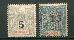 7385   INDOCHINE N° 22/3 */°  Timbres De 1900 Surchargés       1908    TB - Indochina (1889-1945)