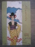 Cpa Litho Illustrateur - Raphael Kirchner - Série Les Parfums - Ylang Ylang - Geisha - 1901 - Kirchner, Raphael
