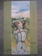 Cpa Litho Illustrateur - Raphael Kirchner - Série Les Parfums - Reseda - 1901 - Kirchner, Raphael